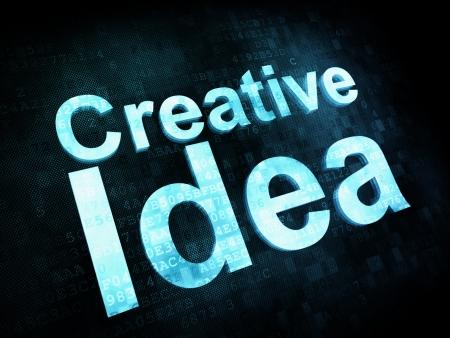 Marketing concept: pixelated words Creative Idea on digital screen Stock Photo - 14329853