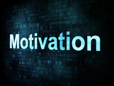 Job, work concept: pixelated words Motivation on digital screen, 3d render Stock Photo - 14328861