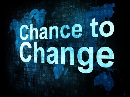 yaşam tarzı: Yaşam tarzı kavramı: pikselli kelimeler dijital ekranda değiştirmek için şansımız, 3d render