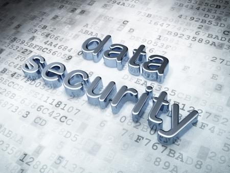 Security concept: silver data security on digital background, 3d render Stock Photo - 16927096
