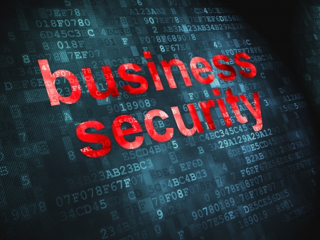 Privacy concept  pixelated words Business Security on digital background, 3d render Stock Photo - 17549447