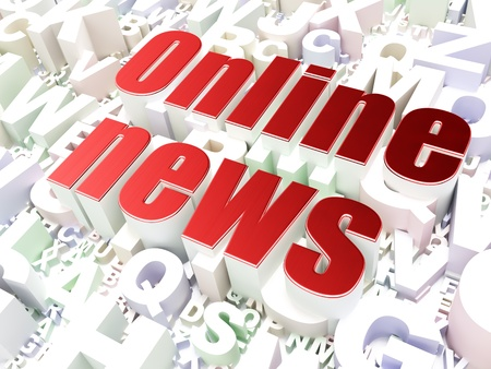 News concept  Online News on alphabet  background, 3d render Stock Photo - 17677799