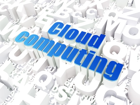 Cloud computing technology, networking concept  Cloud Computing on alphabet  background, 3d render Stock Photo - 17678075