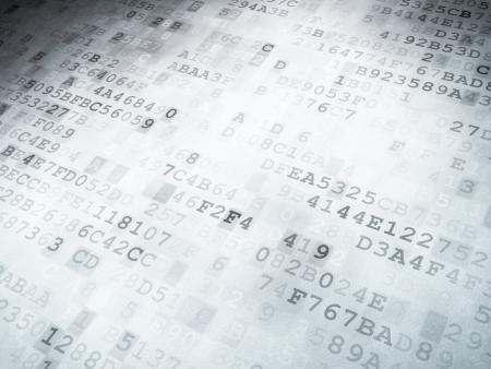 Concepto de la tecnología de código binario digital de fondo, 3D, render