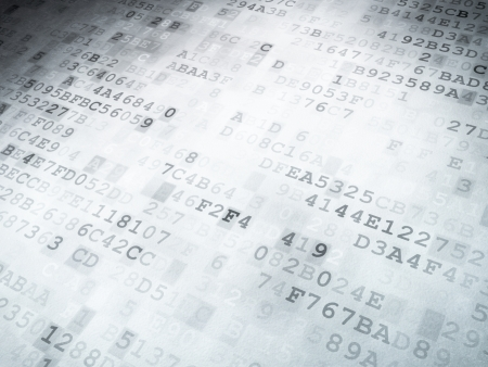 Technology concept  binary code digital background, 3D render photo