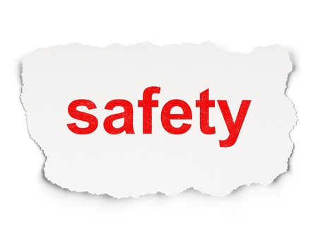 Protection concept  torn paper with words Safety on  background, 3d render Stock Photo - 18456986