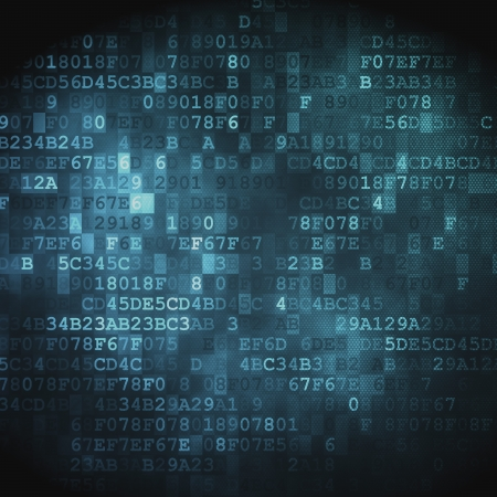 network security: Technology concept  hex-code digital background, 3D render Stock Photo