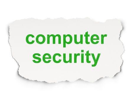 Security concept  torn paper with words Computer Security on Paper background, 3d render Stock Photo - 18765901