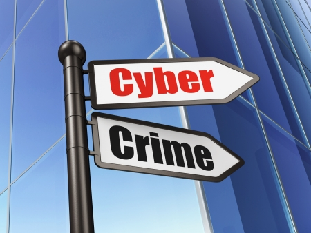 Privacy concept  Cyber Crime on Business Building background, 3d render Stock Photo - 19115105