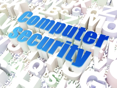 Security concept  Computer Security on alphabet  background, 3d render photo