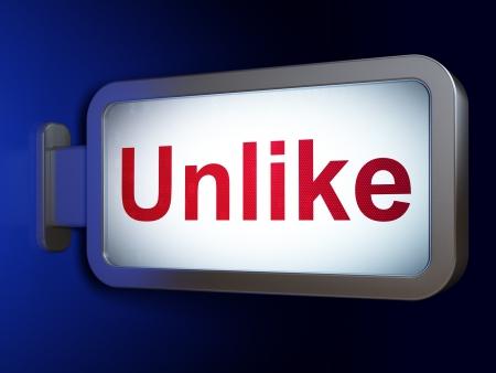 Social network concept  Unlike on advertising billboard background, 3d render Stock Photo - 19619973