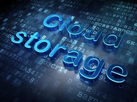 Privacy concept  Blue Cloud Storage on digital background, 3d render photo