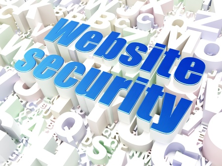 Security concept  Website Security on alphabet  background, 3d render photo