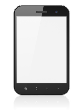 Black abstract mini tablet computer  tablet pc  on white background, 3d render  Modern portable touch pad device with white screen Stock Photo - 19866384