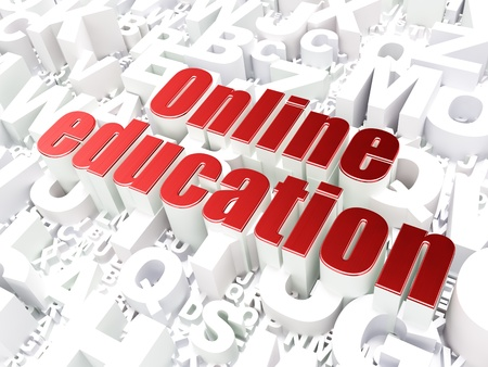 Education concept  Online Education on alphabet  background, 3d render photo