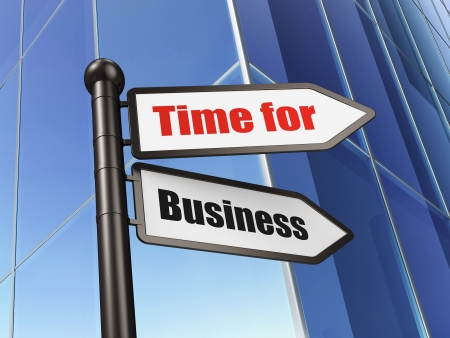 Time concept  Time for Business on Building background, 3d render photo