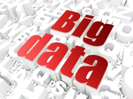 Data concept: Big Data on alphabet  background, 3d render Stock Photo - 21344965