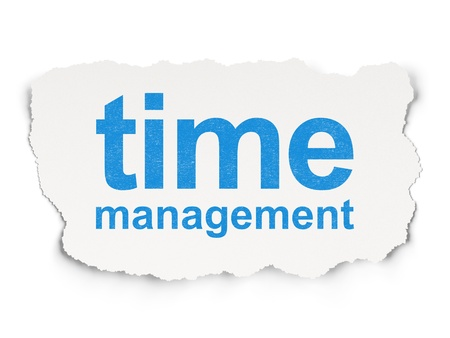 Time concept: torn paper with words Time Management on Paper background, 3d render