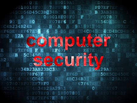 Protection concept: pixelated words Computer Security on digital background, 3d render Stock Photo - 21514918
