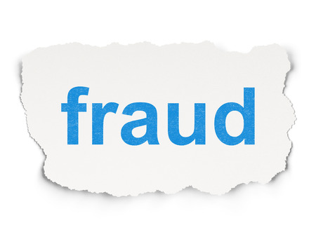 Protection concept: torn paper with words Fraud on Paper background, 3d render Stock Photo - 22321083