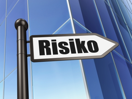 risiko: Business concept: Risiko(german) on Building background, 3d render