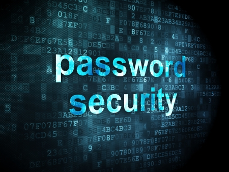 access granted: Security concept: pixelated words Password Security on digital background, 3d render