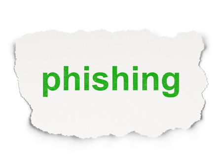 passkey: Security concept: torn paper with words Phishing on Paper background, 3d render