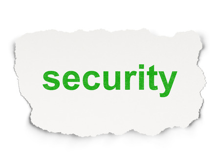 Security concept: torn paper with words Security on Paper background, 3d render