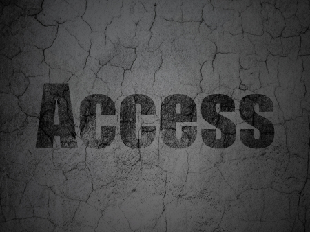 access granted: Privacy concept: Black Access on grunge textured concrete wall background, 3d render Stock Photo