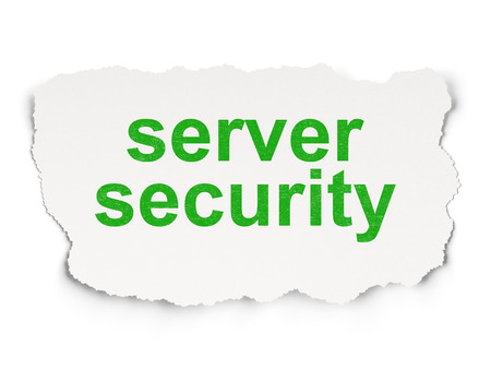 passkey: Security concept: torn paper with words Server Security on Paper background, 3d render