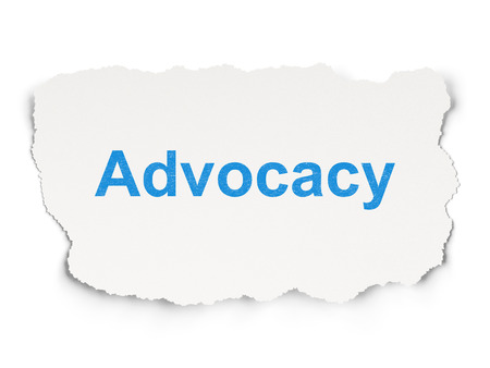 advocacy: Law concept: torn paper with words Advocacy on Paper Stock Photo