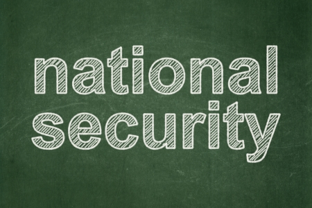 Privacy concept: text National Security on Green chalkboard background, 3d render photo