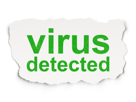 detected: Safety concept: torn paper with words Virus Detected on Paper , 3d render Stock Photo