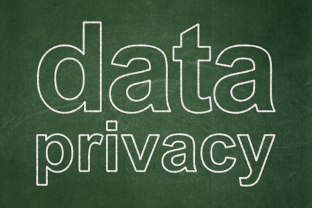 Privacy concept: text Data Privacy on Green chalkboard , 3d render photo