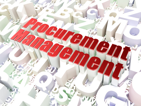 Business concept: Procurement Management on alphabet  background, 3d render photo