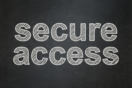 Security concept: text Secure Access on Black chalkboard background, 3d render photo