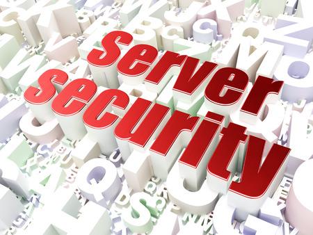 Security concept: Server Security on alphabet  background, 3d render photo