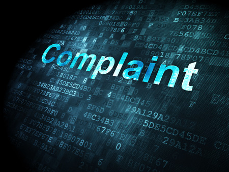 data protection act: Law concept: pixelated words Complaint on digital background, 3d render
