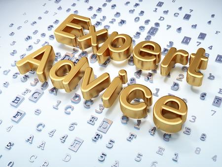 lex: Law concept: Golden Expert Advice on digital , 3d render