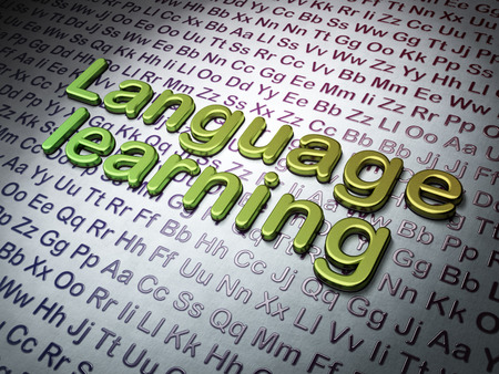 Education concept:  Language Learning on Alphabet , 3d render photo