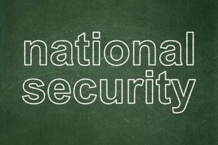 Safety concept: text National Security on Green chalkboard background, 3d render photo