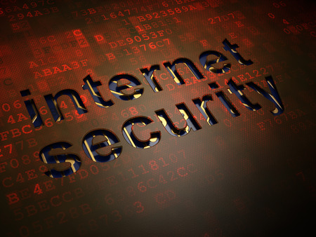 Safety concept: digital screen with word Internet Security, 3d render photo
