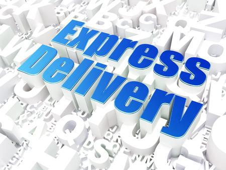 buisnes: Finance concept: Express Delivery on alphabet  background, 3d render