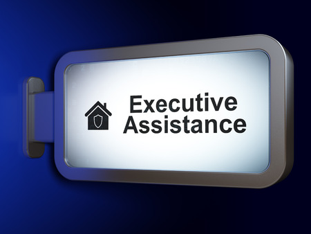 Business concept: Executive Assistance and Home on advertising billboard background