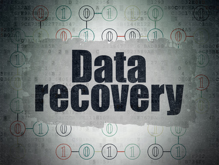 data recovery: Information concept: Painted black text Data Recovery on Digital Paper background with  Scheme Of Binary Code, 3d render