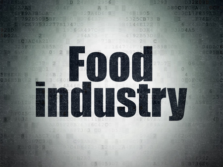 food industry: Industry concept: Painted black word Food Industry on Digital Paper background, 3d render Stock Photo