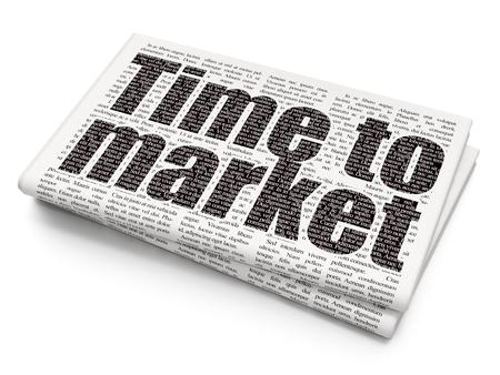 cronologia: Concepto de tiempo: Pixelated Tiempo texto a comercializar en el fondo Periódico
