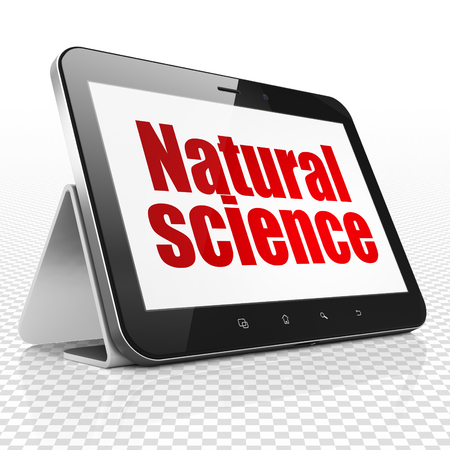 natural science: Science concept: Tablet Computer with red text Natural Science on display