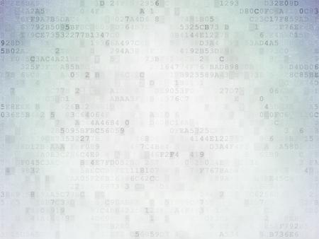 보호 개념 : 디지털 종이 배경에 해결 크로스 워드 퍼즐 녹색 단어의 보호를 그린