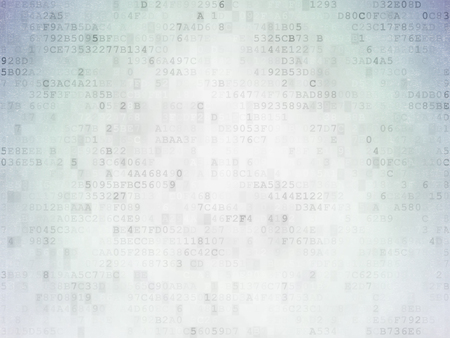 Beveiligingsconcept: geverfd groene woord bescherming in het oplossen van het kruiswoordraadsel op digitaal papier achtergrond Stockfoto
